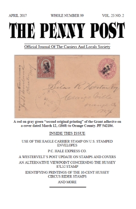 Carriers and Locals Society :: Front Covers & Tables of Contents